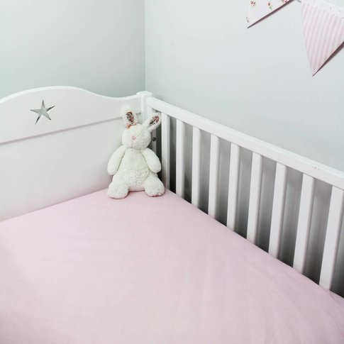 Pink Fitted Sheet Cot Bed And Single