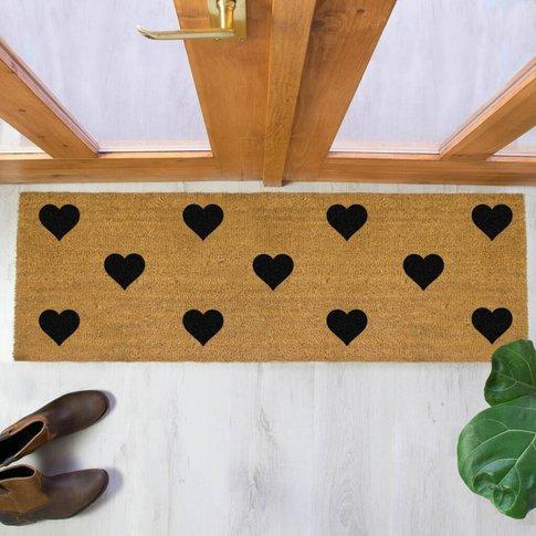 Hearts Print Double Doormat