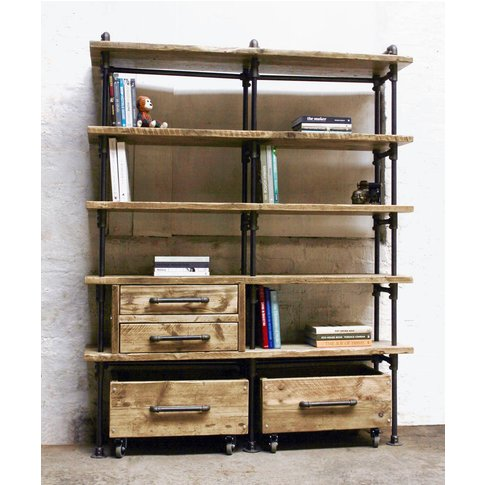 Ana Maria Bookcase With Integrated Drawer Units