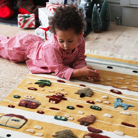 Handmade 'Snow In Summer' Children's Rug