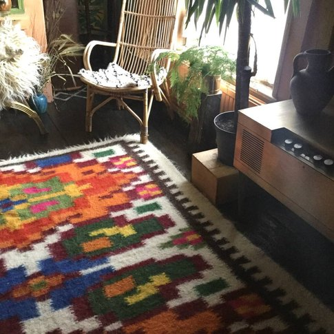 Pumpkin Spice And Everything Nice Hand Woven Wool Rug