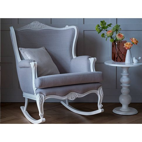 Belle Hand Carved Rocking Chair From Lilies And Lions