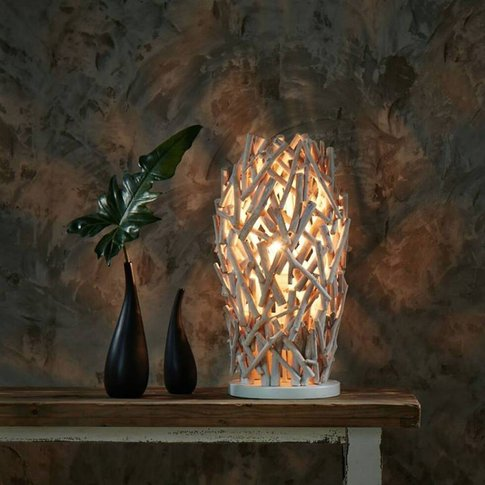 Wooden Cactus Table Lamp