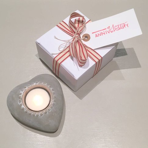 Heart Candle Holder ~ Boxed