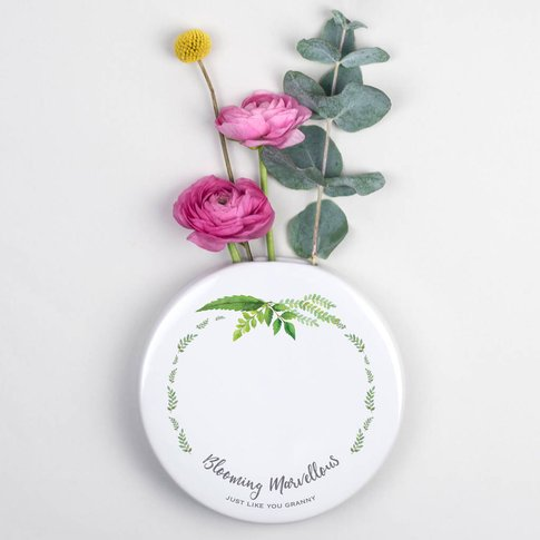 Personalised Gift For Grandma Wall Vase