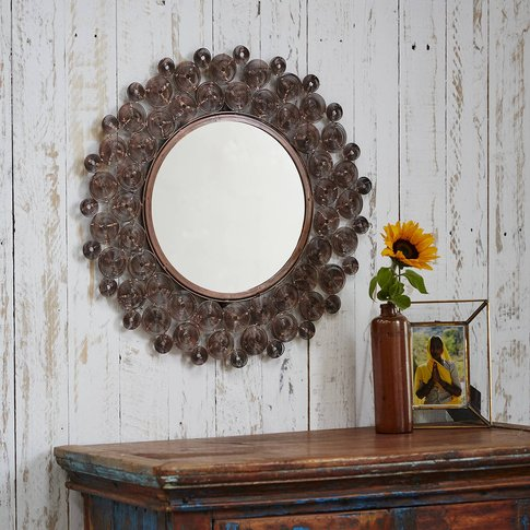 Zanie Copper Spiral Mirror