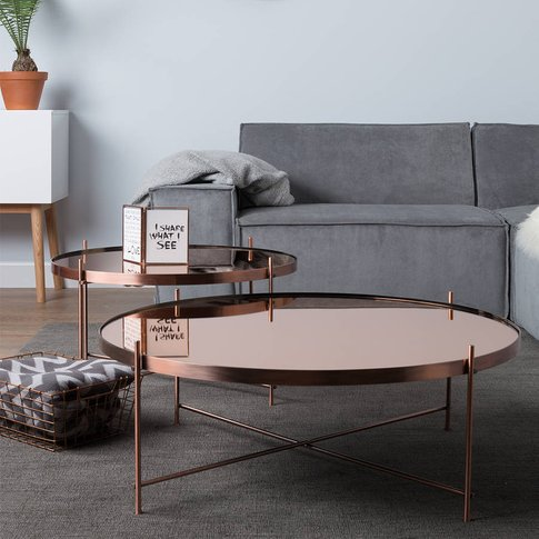 Cupid Copper Living Room Side Table