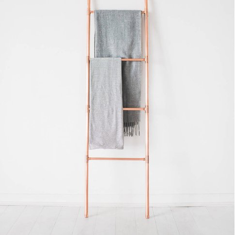 Copper Pipe Blanket And Towel Display Ladder