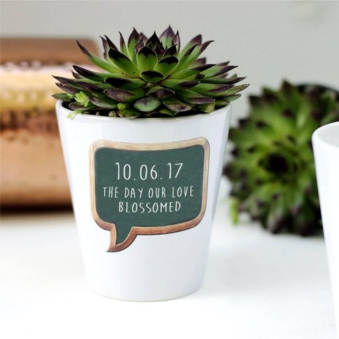 Personalised Best Day Ever Plant Pot