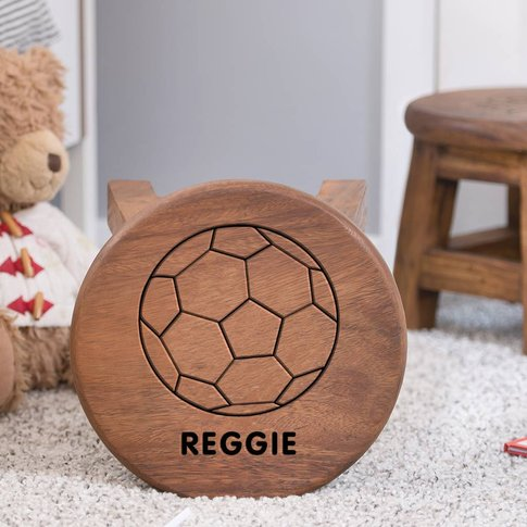 Personalised Football Wooden Stool For Children