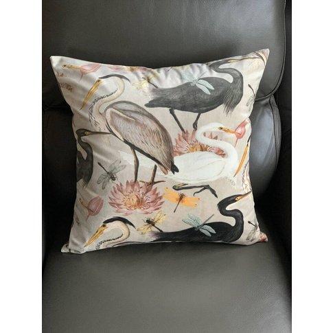 Velvet Heron 50 X 50cm Luxury Cushion