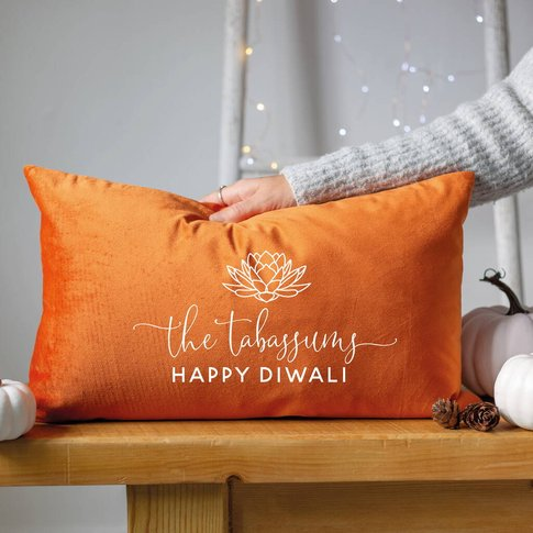 Personalised Family Diwali Cushion