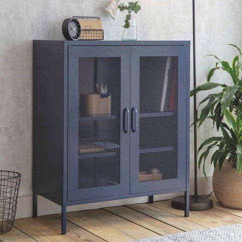 Metal Storage Cabinet In Ink Blue