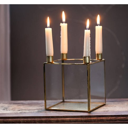 Soft Brass Candle Holder