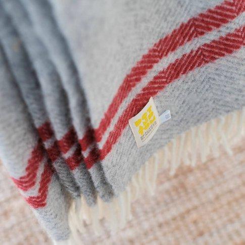 Pure New Wool Stripe Blanket