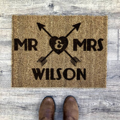 Personalised Couples Doormat