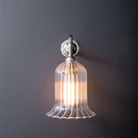 Clear Ribbed Glass Humphrey Wall Light