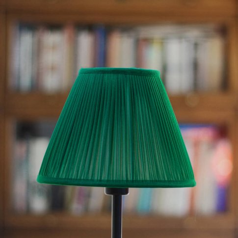 Emerald Chiffon Gathered Lampshade