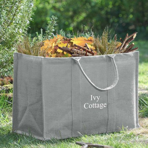 Personalised Eco Jute Garden Storage Bag