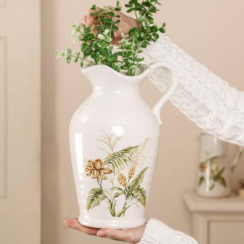 Traditional Ceramic Flower Jug Vase