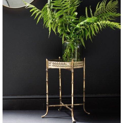 Gold Bamboo Design Side Table