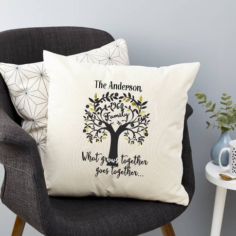 Personalised Family Tree Surname Cushion