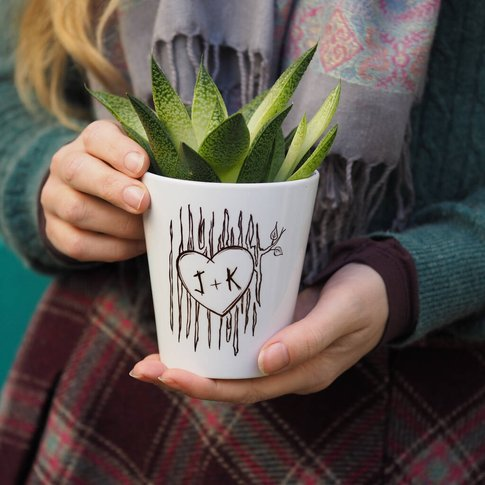 Tree Trunk Personalised Plant Pot Gift
