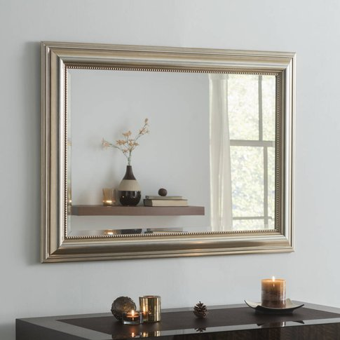 Franz Rectangular Mirror Gold Or Champagne Silver Leaf