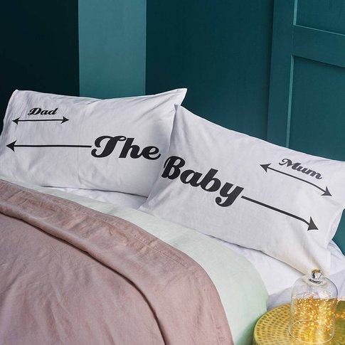 Family Parent And Baby Pillowcase Set