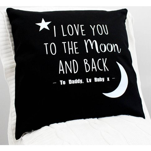 'I Love You To The Moon And Back' Glitter Cushion