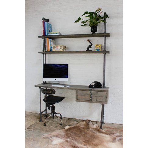 Cherie Desk With Drawers And Shelves