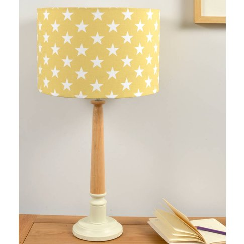 Yellow Stars Wooden Table Lamp, Yellow/Navy Blue/Navy