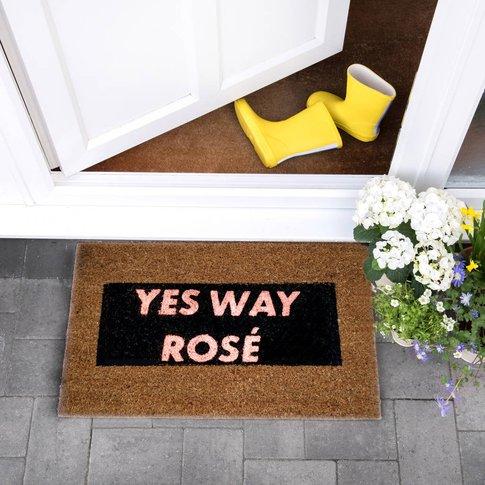 Pink Glitter Yes Way Rose Doormat, Pink