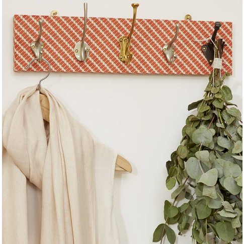 Coral Patterned Mismatched Coat Rack In Two Sizes