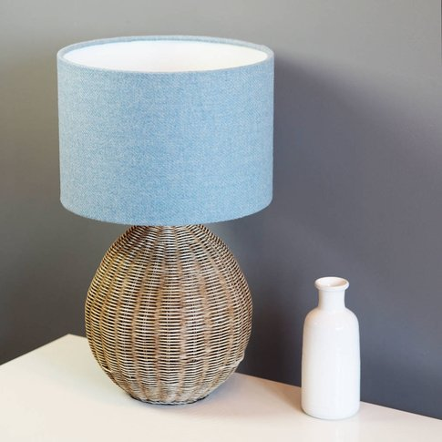 Light Blue Harris Tweed Lampshade