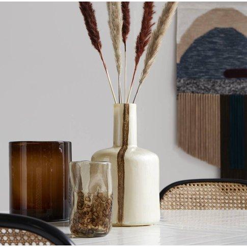 Shot Gold Ceramic Stem Vase