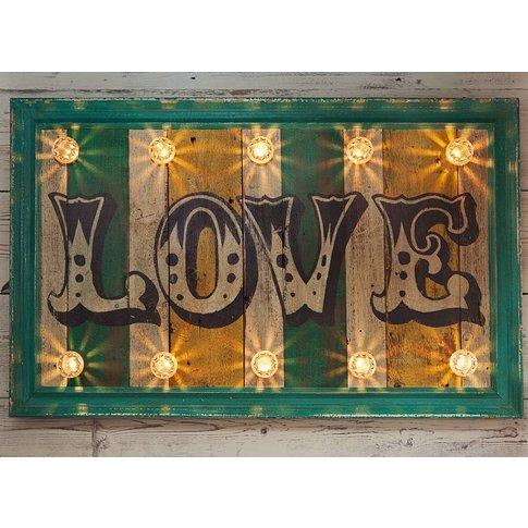 Fairground Wall Light Love