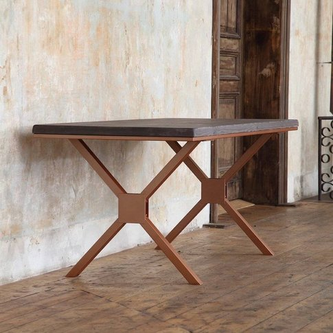 Kew Copper Solid Wood Dining Table