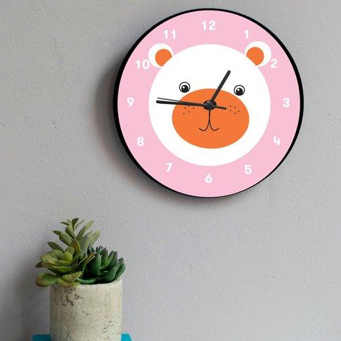 Bear Wall Clock, Black/White/Grey