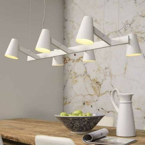 Six Shade White Contemporary Pendant Light