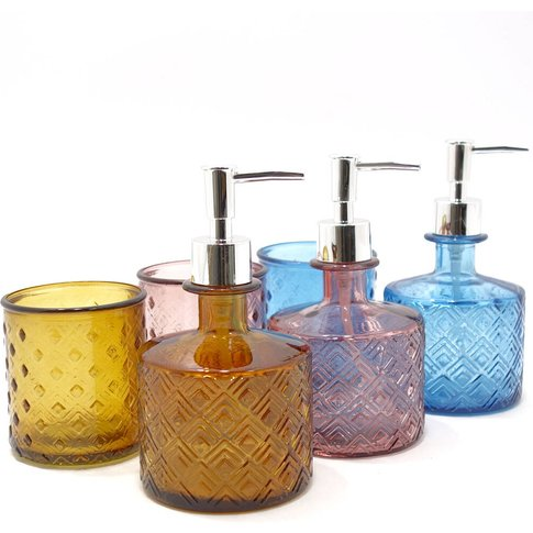 Recycled Glass Soap Dispenser  350ml   Four Colours