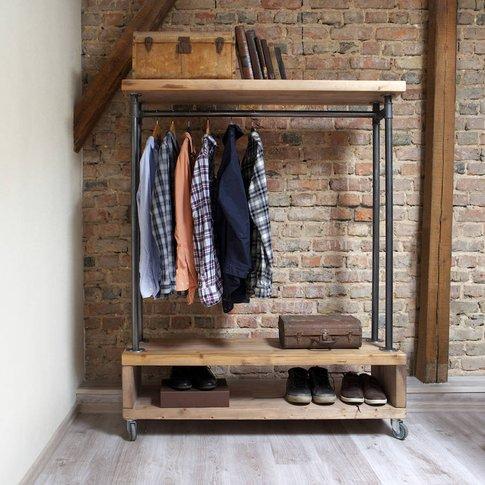 Nene Industrial Style Clothing Storage Unit