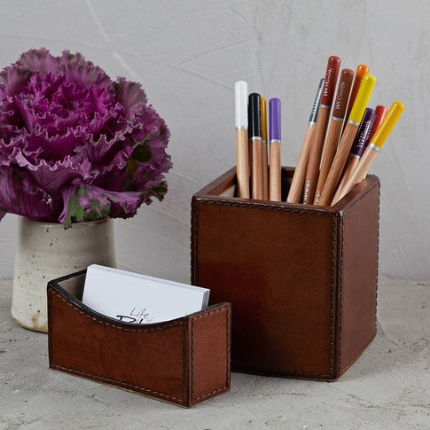 Leather Desk Set Mini
