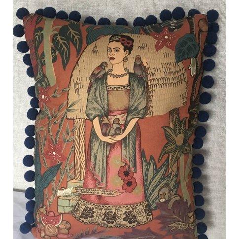 Frida Pom Pom Cushion