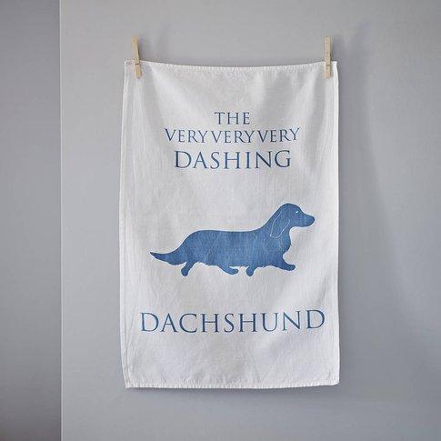 Longhair Dachshund Tea Towel