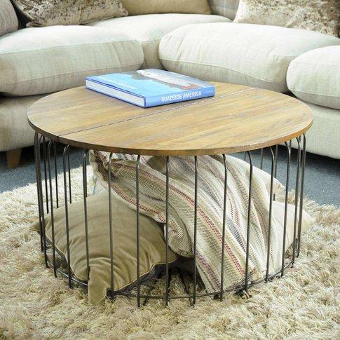 Birdcage Round Storage Coffee Table
