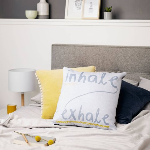 Inhale Exhale Quote Cushion