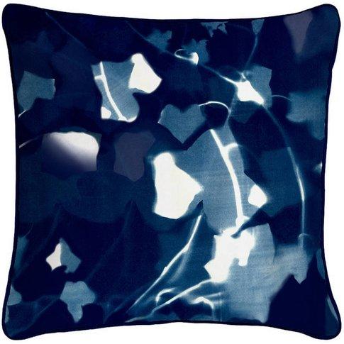 Ivy Cyanotype Botanical Silk Cushion