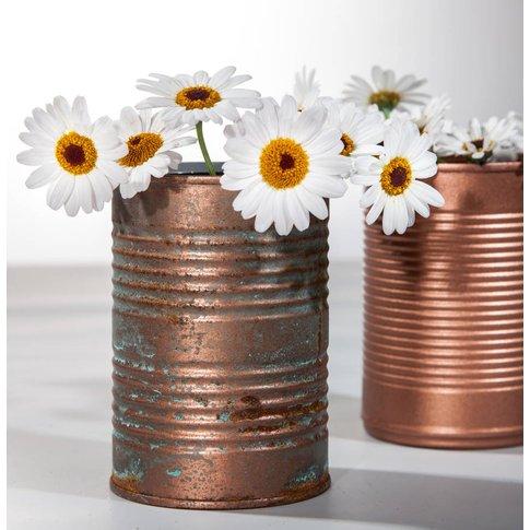 Metal Tin Shaped Vase