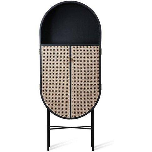 Retro Oval Cabinet, Black